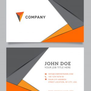 CARTÃO DE VISITA 1.18 - Modern-business-card-in-gray-and-orange-rec
