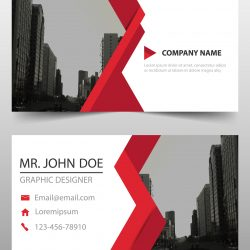 CARTÃO DE VISITA 1.2 - Abstract-business-card-with-red-detail-rec