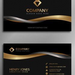 CARTÃO DE VISITA 1.3 - Black-and-gold-business-card-rec