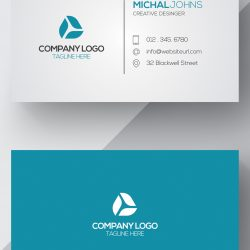 CARTÃO DE VISITA 1.4 - Blue-and-white-business-card-rec