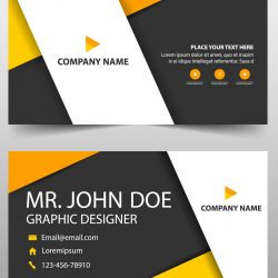 CARTÃO DE VISITA 1.20 - Orange-corporate-business-card-template-rec